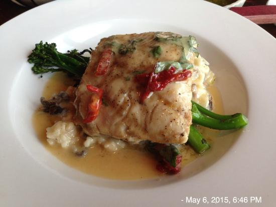 Channel Club: Fresh white king salmon with risotto