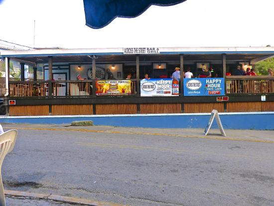 Across the Street Bar & Grill: A view of the Across the Street Bar from Woody's patio