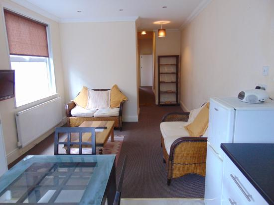 Flat 5 Cardiff: lounge/kitchen Apt A Kings road