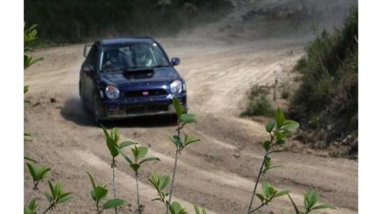 Montboyer, Francja: Subaru Impreza on The Raceandrelaxinfrance Forest Rally Stage.