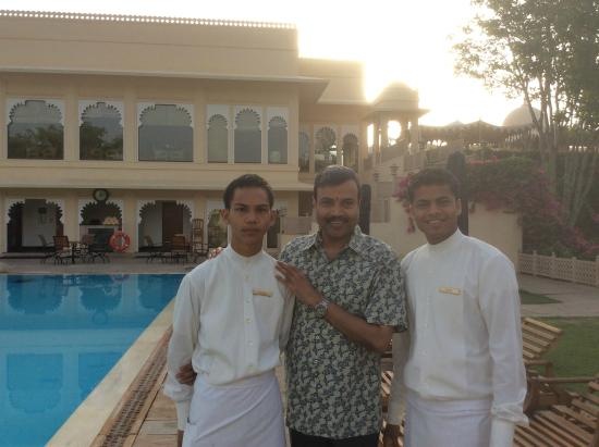 Trident Udaipur: With Nepali Boys Akash and Sunil
