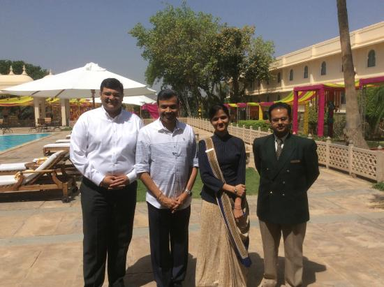 Trident Udaipur: With Amit Saincher(GM) Jagrati(PA to GM) and Ashish Chandra(Executive-HR)