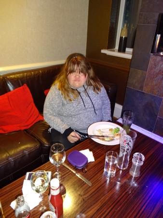 Solihull, UK: My daughter enjoying the food.