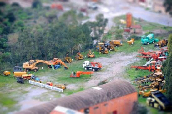 Nebida, Italie : tilt shift сверху