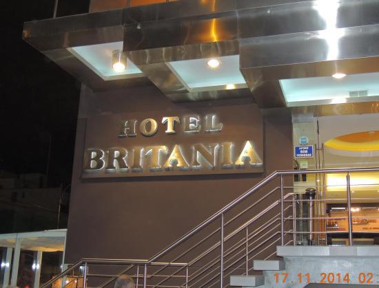 Hotel Britania Miraflores Lima Peru Entrance