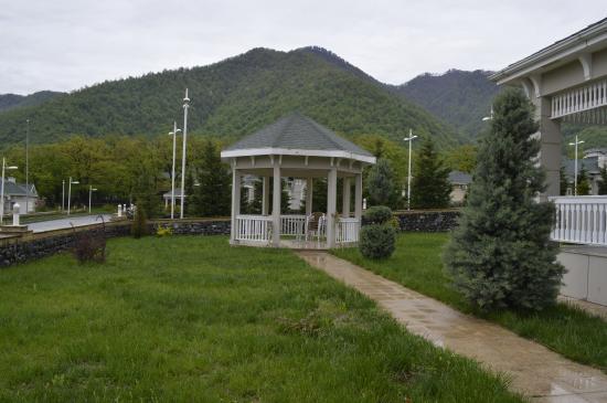 Entrance - Qafqaz Riverside Hotel: pavilion