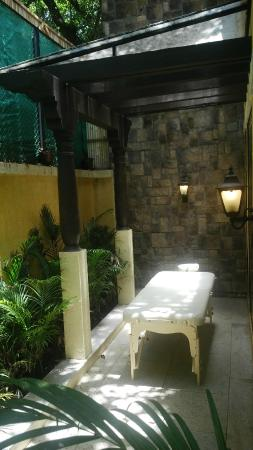 Private Spa area / massage table in our Suite