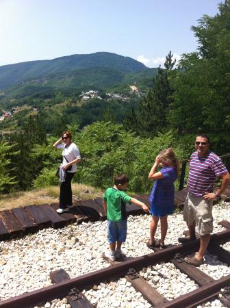 Sargan Eight Railway: Beautiful views along the way, including a few photo stops