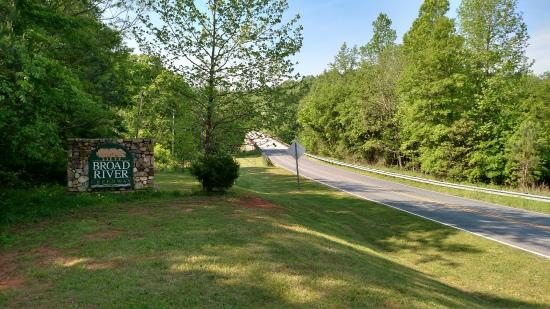 Boiling Springs, Carolina del Norte: View of Broad River Greenway from NC150