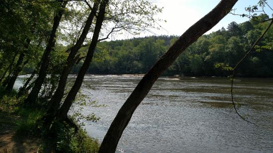 Boiling Springs, Carolina do Norte: View of the Broad River