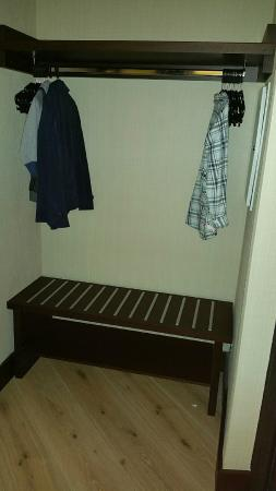 limited wardrobe space for 2 ad and 2ch