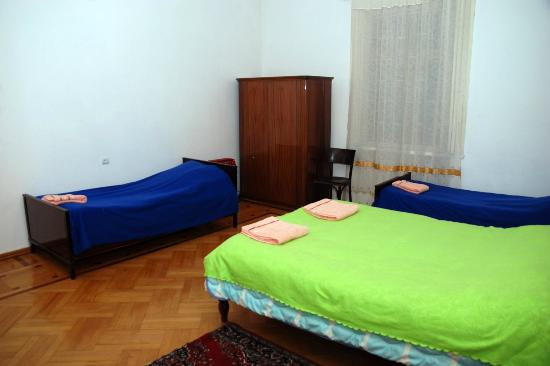 Hostel Old Lviv Dorm With 2 Single Beds And 1 Double Bed