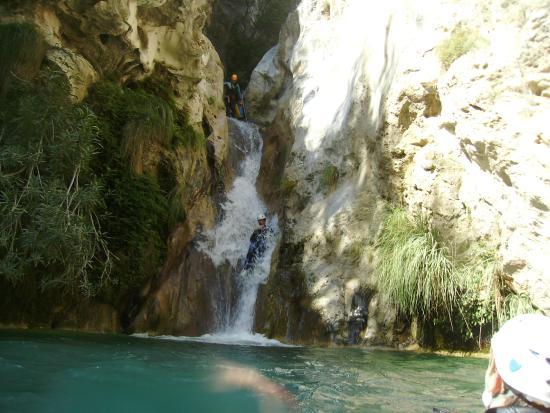 Aldeire, Tây Ban Nha: Descenso de barranco Río Verde - tobogán
