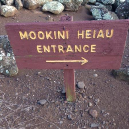 Mookini Heiau: Site name