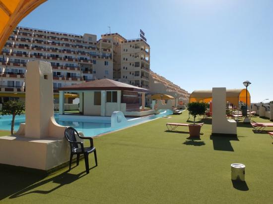 Palm Garden Hotel : Widok na hotel od strony basenów