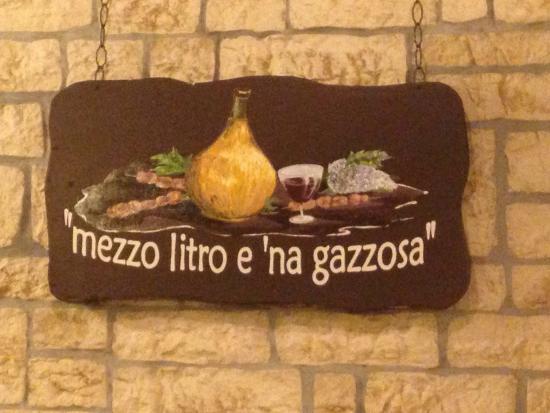 La Cantina dell'Arrosticino: Il motto