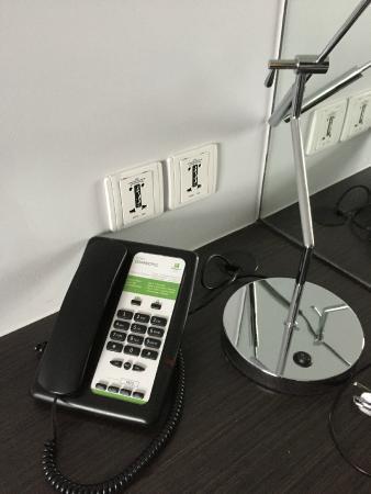 Work desk with plenty of power sockets