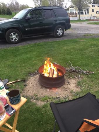 Southwoods RV Resort: We enjoyed a fire each night