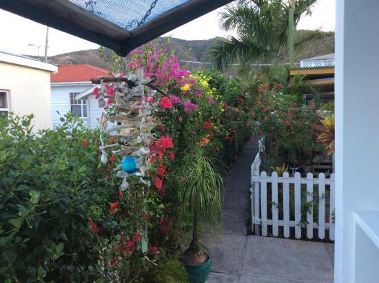Cades Bay, Antigua: en prenant un café!