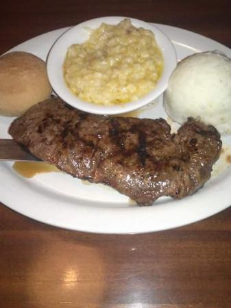 Zachry's Seafood & Steak: steak and creamed corn