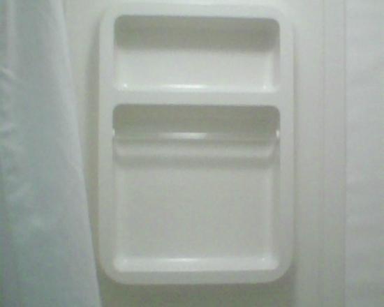 EconoLodge of Shorewood - Joliet: Room 100 Shower Wall (Very Clean Bathroom)