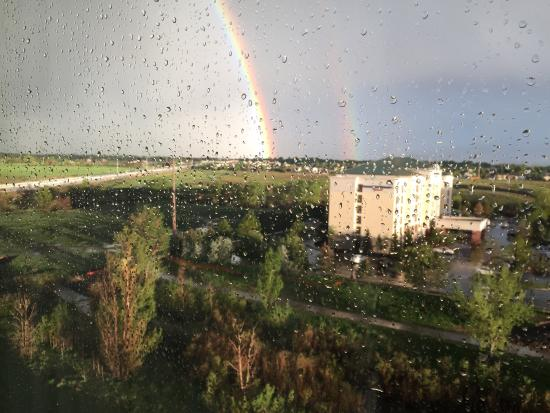 Drury Inn & Suites Denver Westminster: View from floor 6: double rainbow all the way.