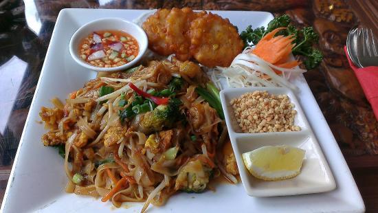 Kinkao Pad Thai With Sweet Corn Cakes