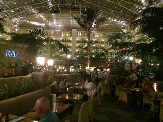One Of The Restaurants By Night Picture Of Gaylord Opryland Resort