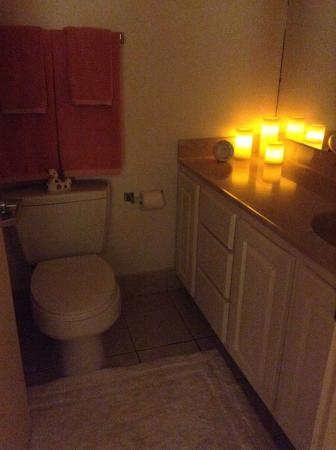 Treasure Island Resort: Bathroom after I gave it my touch