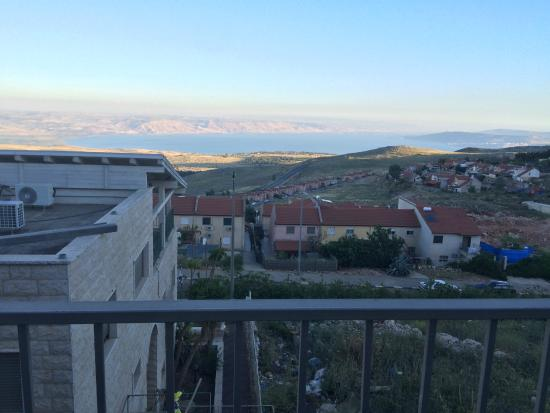 The Kineret (Galilee) seen from patio sitting area.