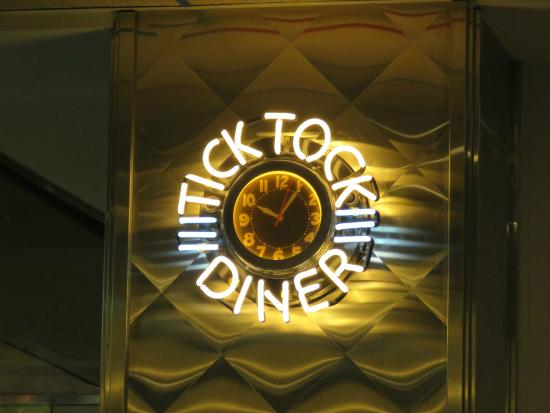 Inside Restaurant Clock - Picture of Tick Tock Diner NY, New