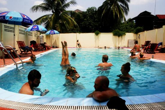 Swimming Pool Party - Picture of Dream Home Hostel 2, Vientiane ...