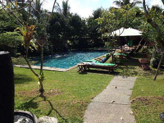 Tunjung Mas Bungalows: Grande piscine