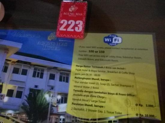 Hotel Agung Mas: info kamar