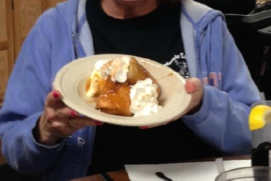Lynn's Place: Deep Fried Cheesecake with Caramel Sauce