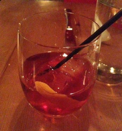 Amali: Can't recall their name or it but it was a Negroni to me. Nice.