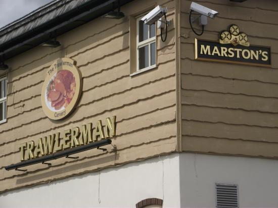 The Trawlerman: out side the pub