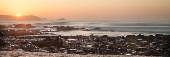 Summer Breeze: Sunset over Fistral beach