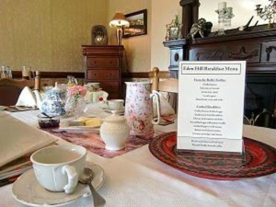Eden Hill House : Breakfast