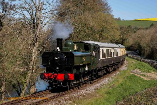 Buckfastleigh, UK: 6412 after returning to service in early 2015 following it's overhaul by SDRE.