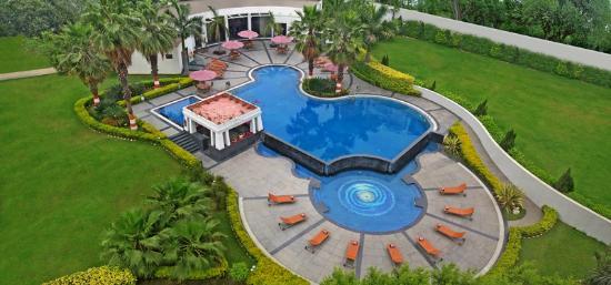 Ramada Plaza JHV Varanasi : A bird's-eye view of Swimming Pool
