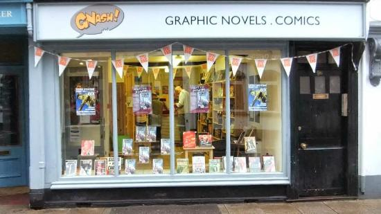 Ashburton, UK: 'Books are my Bag' independent bookshop day at Gnash Comics