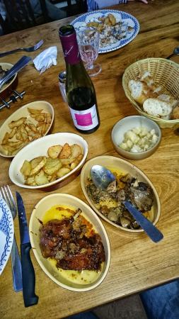 Mareuil-sur-Cher, Prancis: Exemple des plats servis