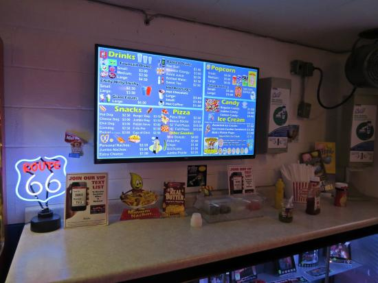digital menu boards and great condiments diced onions tomatos