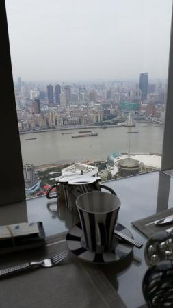 Having my morning coffee at the club Lounge