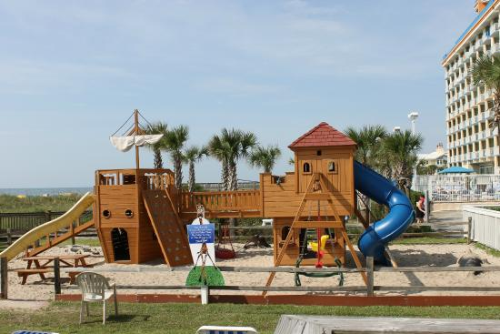 Dunes Village Resort Play Structure Near Beach And Volleyball Court