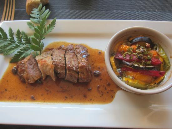 La Maison : Iberico Pork Loin with Tian of Provençal Vegetables