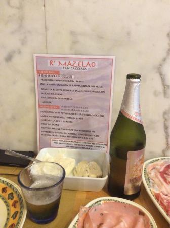 R 'mazelao: Le menu