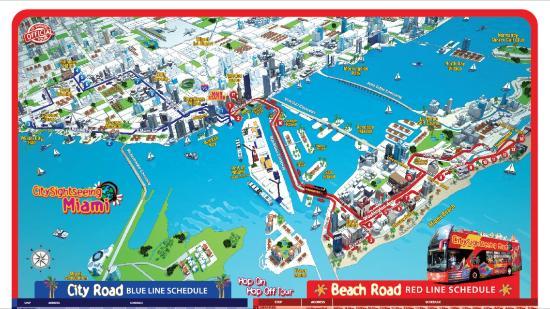 Duck Tour Miami Route