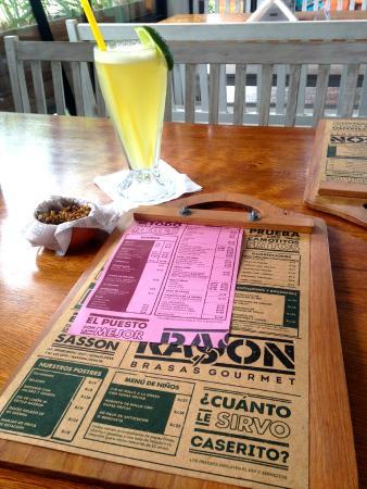 RASSON: The menú